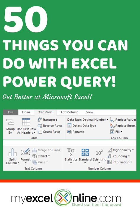 50 Things You Can Do With Excel Power Query | Branding
