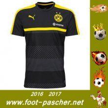 Bundesliga : Training T-Shirt Du Dortmund BVB Noir Saisson 2016 2017 Thailande Pas Chere