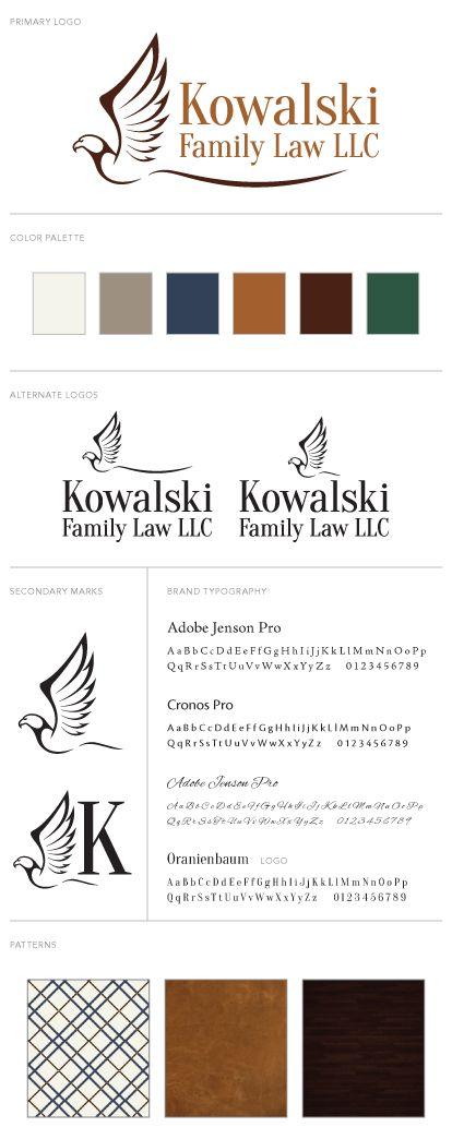 Kowalski Family Law Logo and Branding Package Branding by Tegan Jae