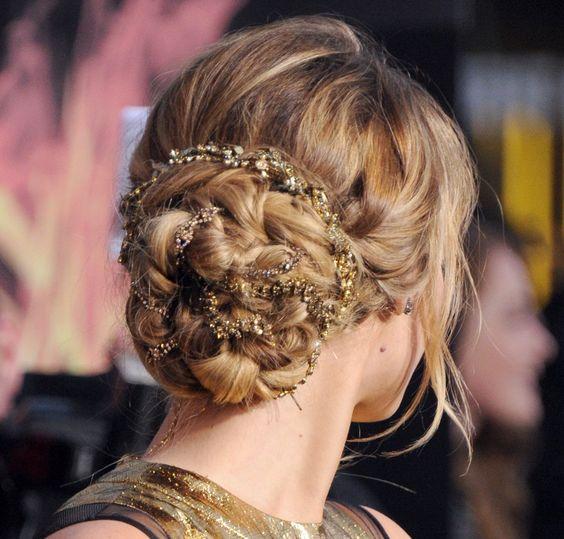 Jennifer Lawrence Hunger Games premiere hair