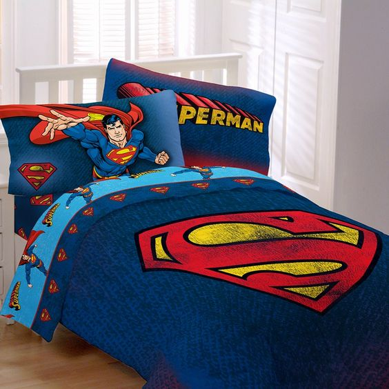 Superman Themed Bedroom: Superman Twin Bed Duvets For Teenager