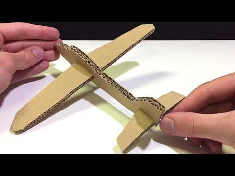 How To Make The Simplest Airplane Launcher At Home Cardboard Glider Youtube Cardboard Airplane Airplane Kids Cardboard Model