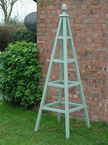 Wooden Garden Obelisk - I think we can make this obelisk.