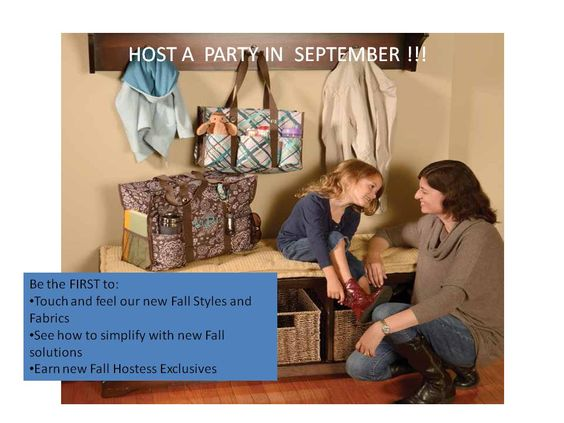 Love the use of the Organizing utility tote and the Super Organizing tote together.  Both on Sale in September!  www.mythirtyone.com