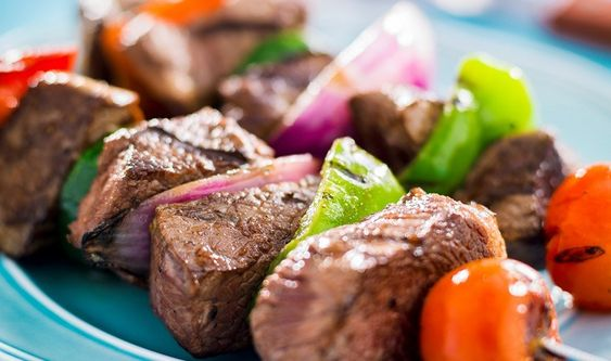 Beef Kebabs with Vegetables