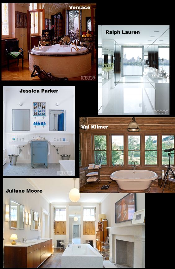 bathrooms of celebrities by momtomomtalk.com