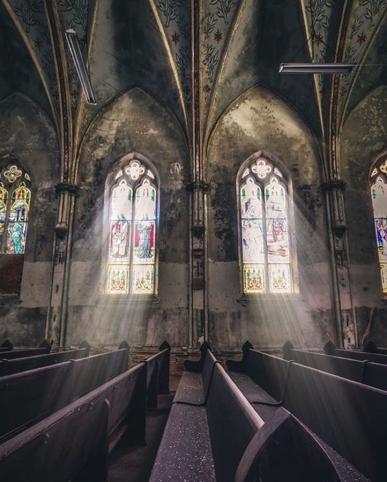 Photographer: @exploringcody #pr0ject_uno #sombrexplore  #instagram #photography #explore #stainglass #windows #urbex #abandoned #church