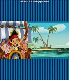 Etiqueta para chocolate Jake y los piratas