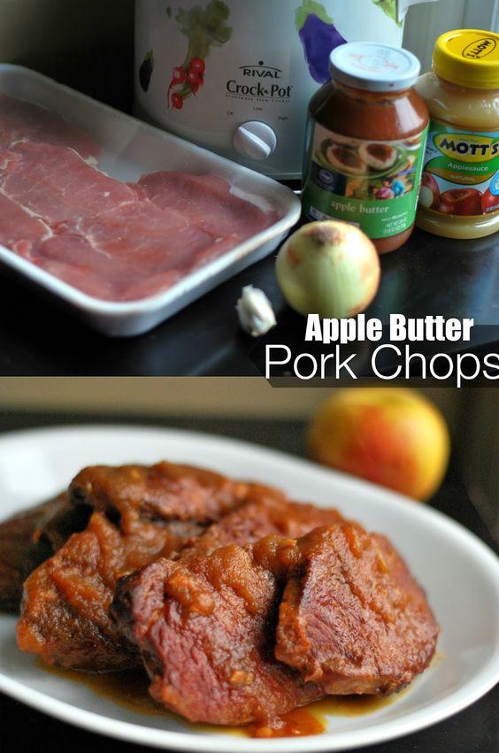 Apple butter, Pork chops and Pork on Pinterest