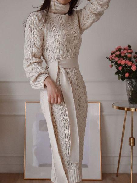 abito maglione lungo