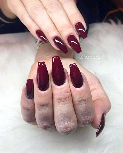 23 Best Gel Nail Designs To Copy In 2019 Red Gel Nails Red