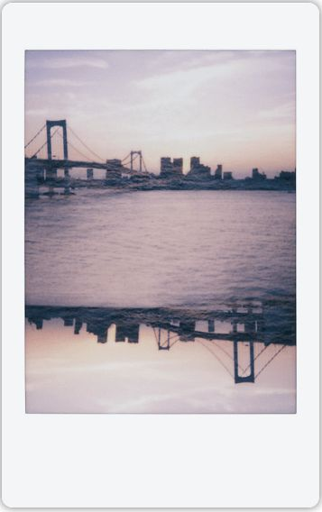 Photographer Mick Park experiments with the Instax Mini 90 features. This flipped double exposure shot is everything!