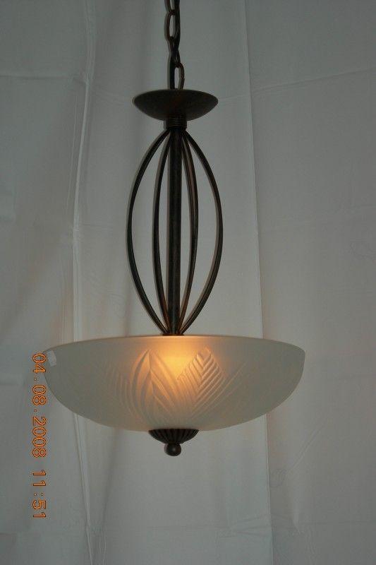 Bronskleurige Schaallamp 2 Lichts Nr 20384 2 Retro Verlichting Plafondverlichting Verlichting