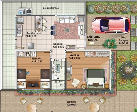 Plano apartamentos 80 m2 buscar con google decoracion for Casa minimalista 90m2