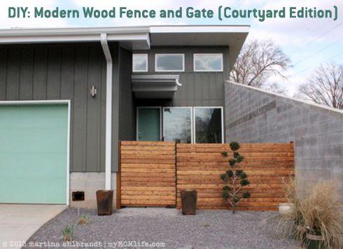 Simple Fence Gate Design diy: modern wood fence and gate (courtyard edition) - mymcmlife