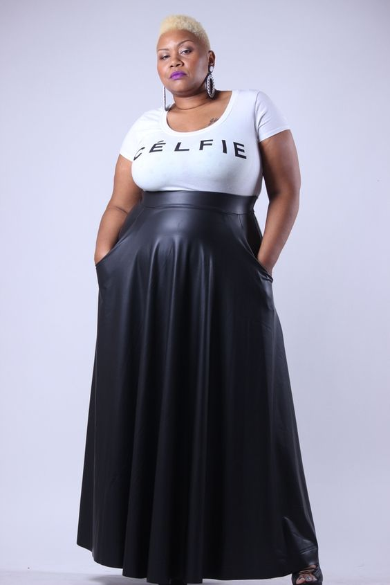 Full Length Leather Skirt | Jill Dress