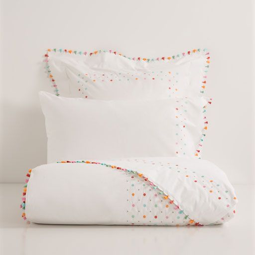 Zara have the cutest kids' bedlinen collection I've seen. Embroidered Percale Cotton Bed Linen