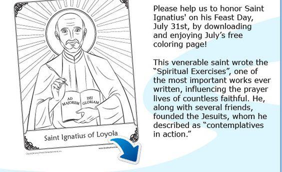 Saint Ignatius of Loyola coloring page
