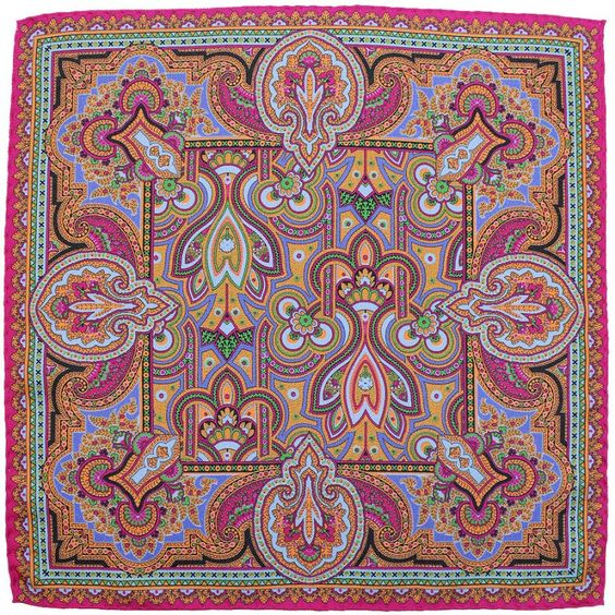 Paisley Pocket Square - Hot Pink - Silk - Classic Handmade Ties - Made in Italy & Germany - shibumi-berlin.com