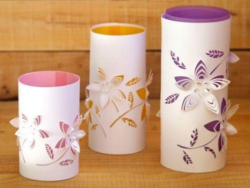 Diy Dimensionale Blume Papier Laternen Diyundhaus Com Diy Laternen Blumen Aus Papier Diy Papier