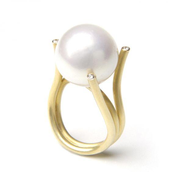 Lianas: joyas con perlas - Anillo Pistil