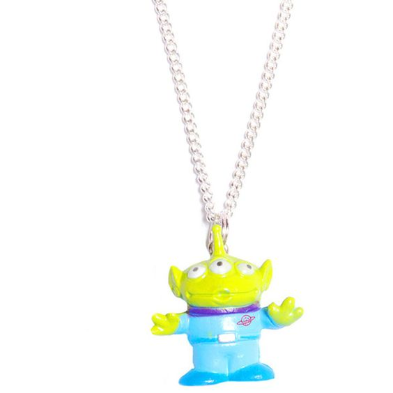 Toy Story Alien Necklace - Necklaces & Pendants (£5.99) ❤ liked on Polyvore featuring jewelry, necklaces, accessories, pendant necklaces and pendant jewelry