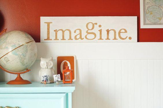 Easy Typography Wall Art (http://blog.hgtv.com/design/2014/04/08/easy-typography-wall-art/?soc=pinterest)