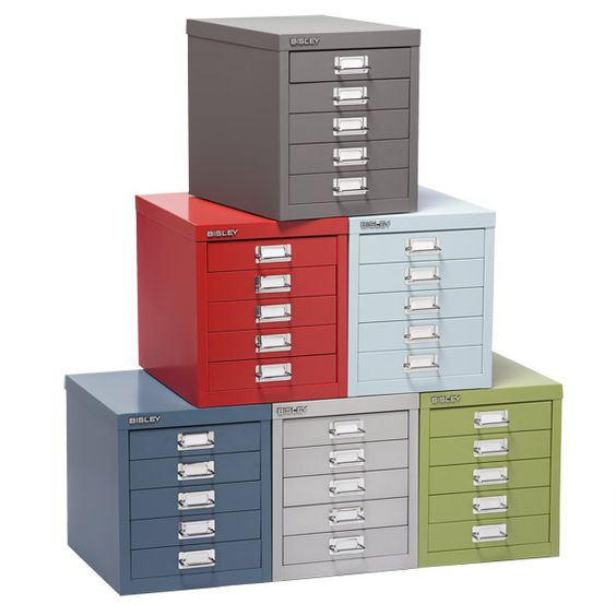 The Container Store u003e Bisley® 5-Drawer Cabinet. I like the yellow one