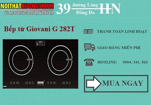 Bếp từ Giovani G 282T có ưu nhược điểm gì?