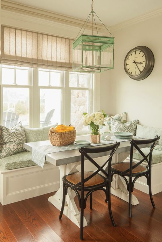 To fit seating into the tight space, he added a breakfast nook. The wraparound bench eliminated the need for chairs and added lots of much-n...