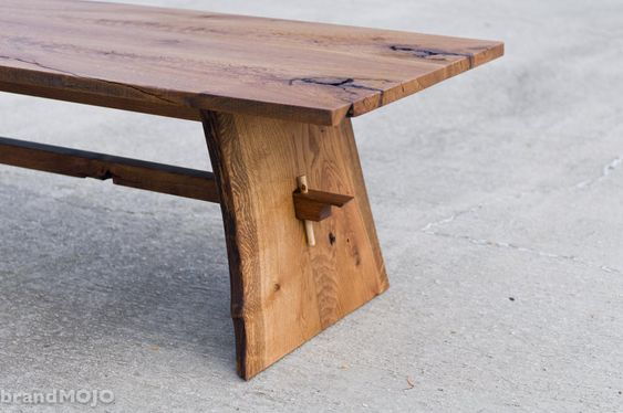 Custom Live Edge Coffee Table Trestle Table Mid Century Coffee Table Rustic Wood Organic Modern Nakashima Atyle Brandmojo Interiors In 2020 Mid Century Coffee Table Rustic Wood Wood