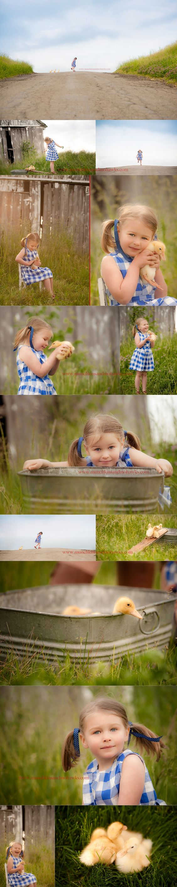 on the farm - girl with ducklings.    SO stinkin' cute.     ©munchkins and mohawks photography