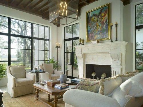 Love this room - windows and lighting
