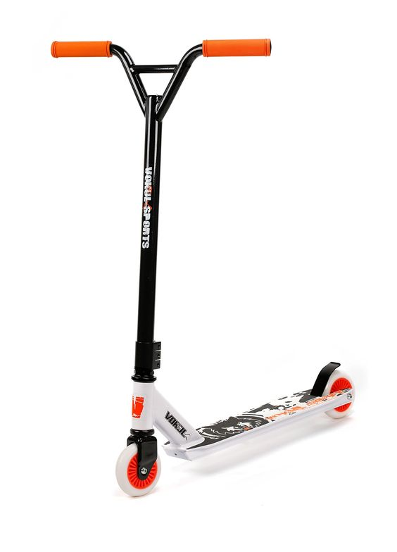 Vokul® TG-6061 Pro Micro Stunt Scooter for Adult Lightweight, Super-Tough Aluminum Stunt Kick Micro Scooter With High Grade Urethane Wheel (Y-orange)