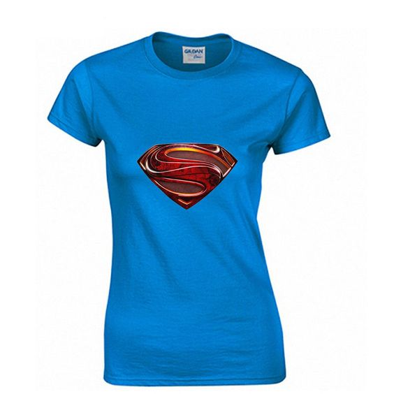 Super man Fashion Print 100% Cotton Women's T-shirt
