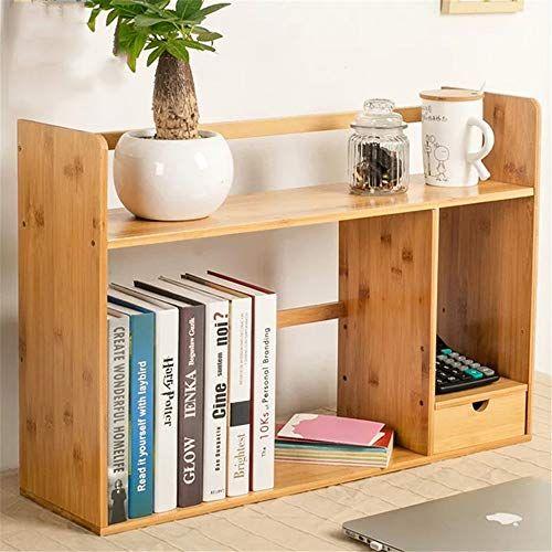 Bookshelf Bookshelf Extendable Desk With 2 Drawers Adjustable Desk Bookcase Expandable Desktop Display S Simple Bookshelf Desktop Storage Adjustable Bookshelf