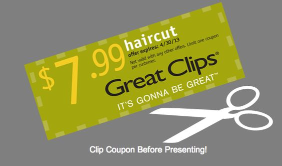 Great Clips printable coupon - Haircuts for $7.99
