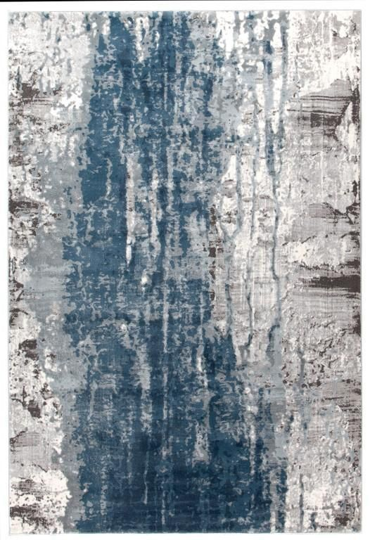 Kendal 1733 Blue Rug Grey White Abstract Blue Rug Rug Texture