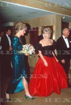 Princess Diana and Lady Dale Tryon
