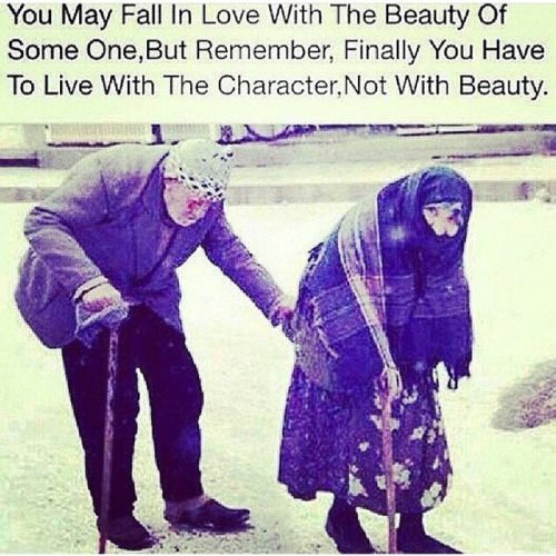 You have to live with character, not with beauty.