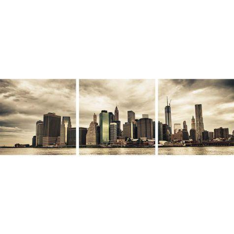 Bilder-Set Lower Manhattan Skyline, 3-tlg., Float Glas Vorderansicht