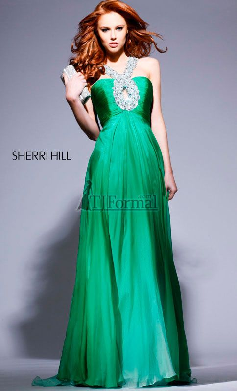 Emerald ball gown for you! You're spunky, fun, friendly