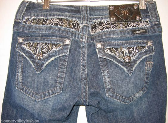 Night out on the town? Just chilling with friends? This great pair of Miss Me Boot Cut jeans works in any situation. With eye catching rhinestone adornment, you WILL make a statement!