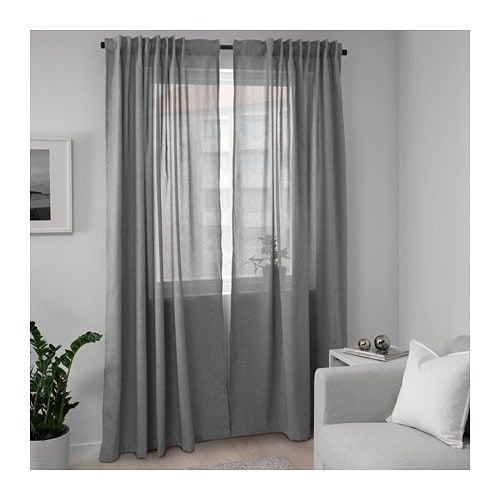 Hannalena Room Darkening Curtains 1 Pair Gray 57x98 Ikea In 2020 Room Darkening Curtains Curtains Curtains Living Room