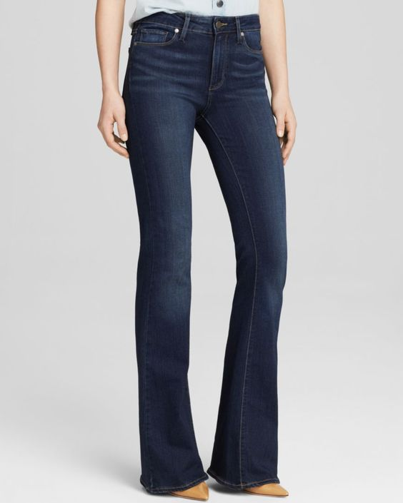 Paige Denim Skyline Transcend Boot Petite Jeans in Nottingham