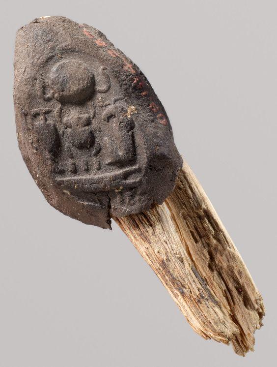 Seal Impression Attatched to a Fiber Tie from Tutankhamun ...