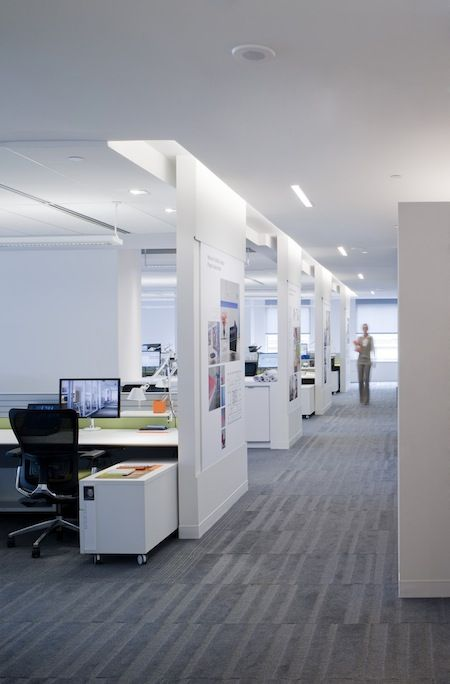Great Lighting And Walls Add Privacy To The Workspace | Interiores |  Pinterest | Office Designs, Modern Office Design And Display