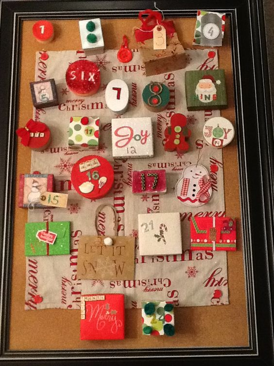 Our Homemade Advent Calendar:)