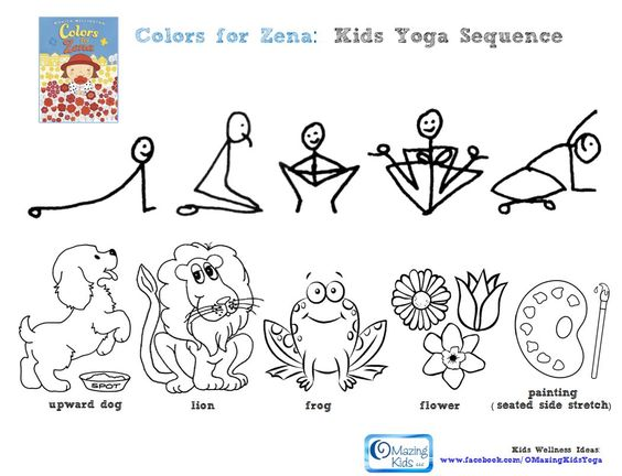 free kids yoga coloring pages - photo#22