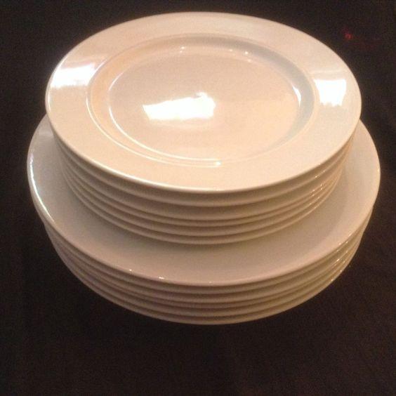 Dansk Cafe Blanc 6 White Rimmed Dinner Plates and 6 Salad Plates #Dansk & Pinterest \u2022 The world\u0027s catalog of ideas